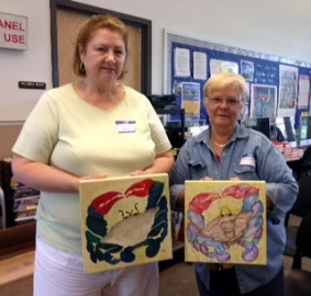 Huffmaster participants and paintings 2