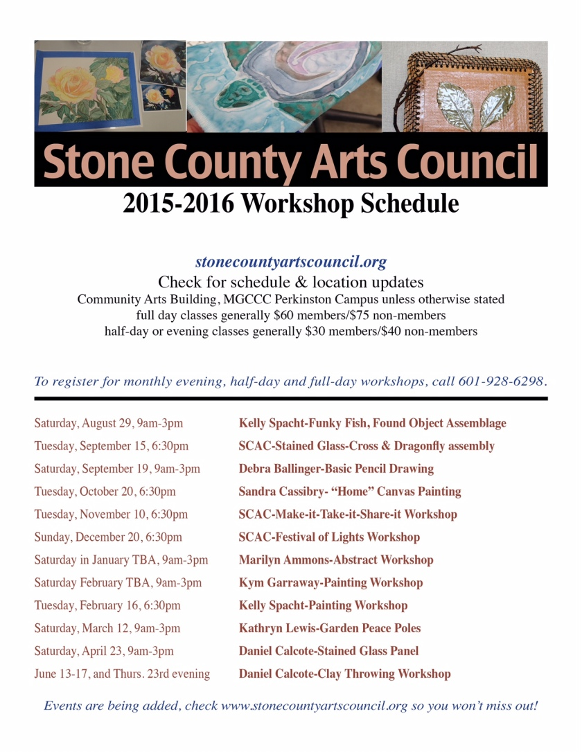 2015-2016 Workshop Schedule
