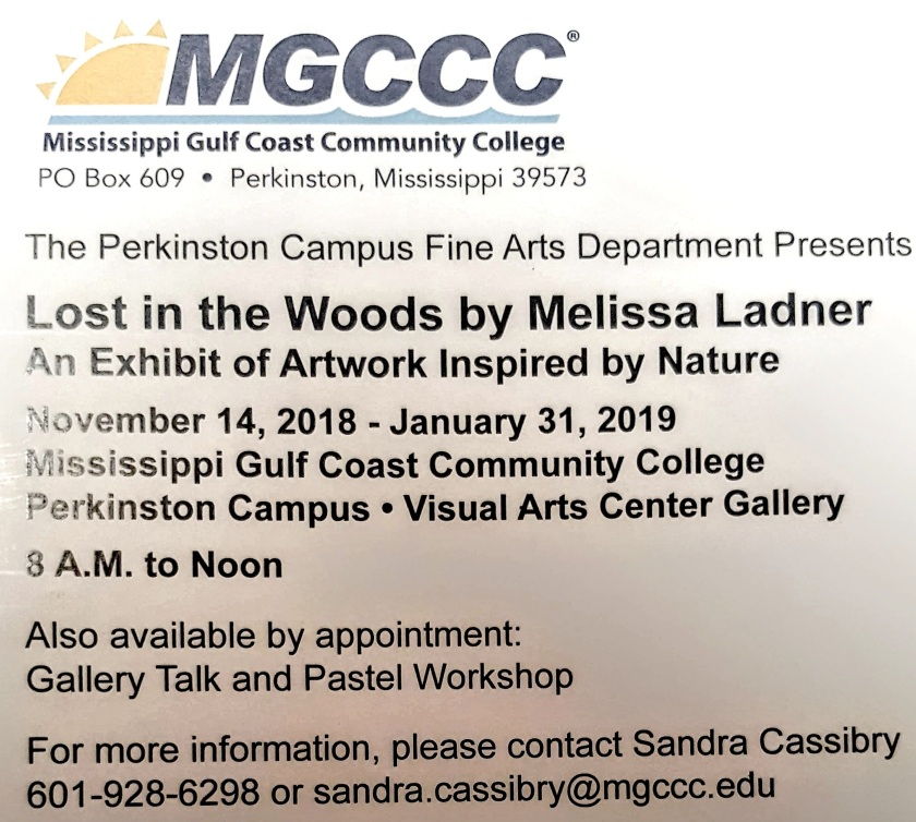 Lost in the Woods exhibit schedule.