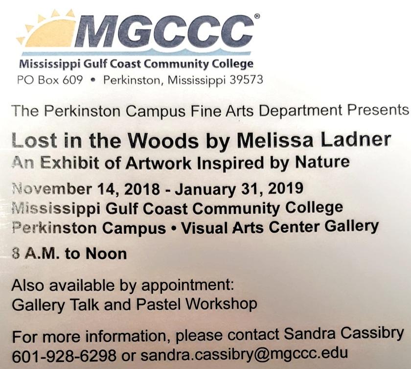 Lost in the Woods exhibit schedule.